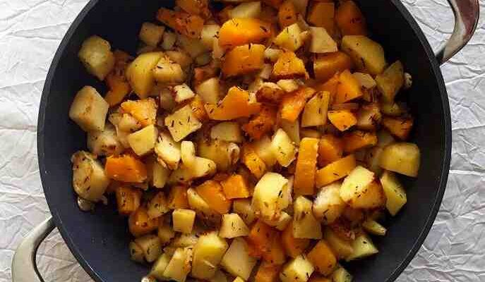 Comment cuisiner le butternut à la poêle